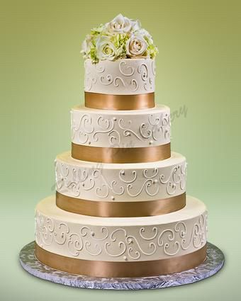 How many tiers in your wedding cake? 4