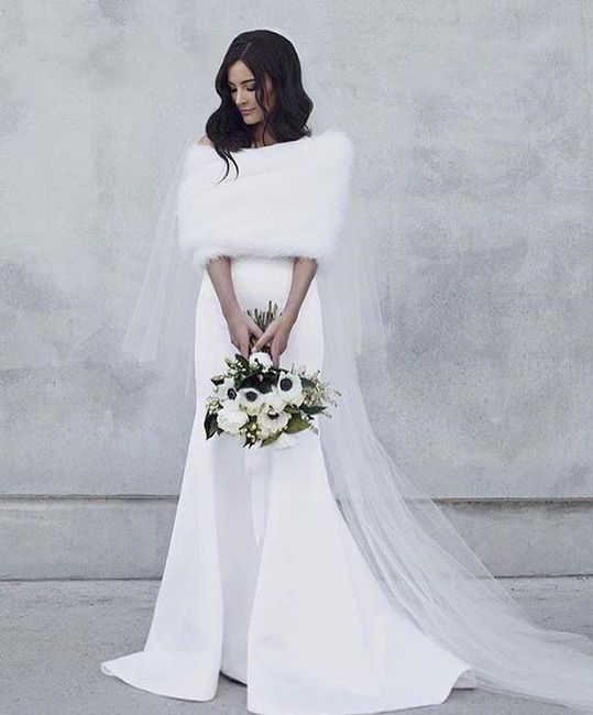 Wedding dress for winter desert wedding 2