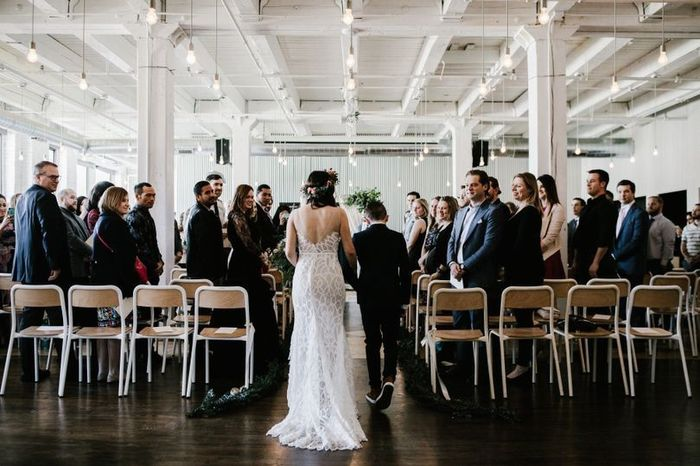 Who are you walking down the aisle with? 1