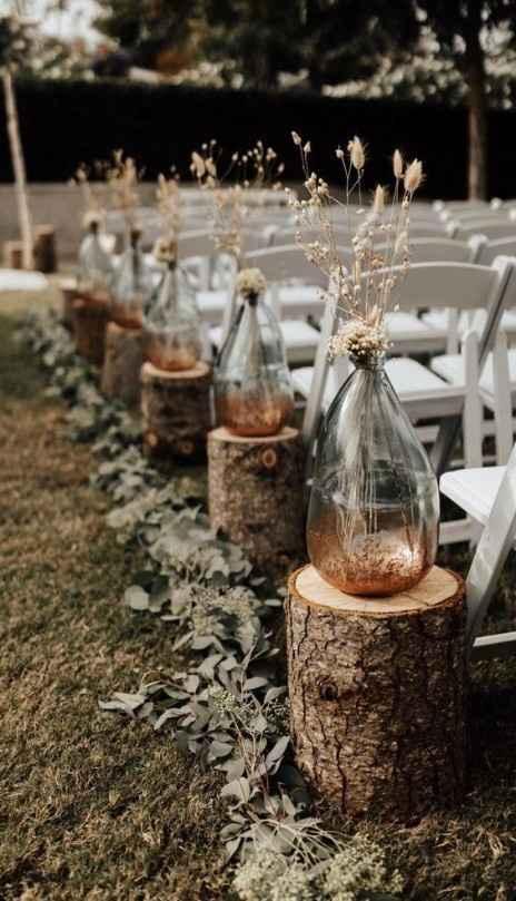 fall ceremony decor foliage candles leaves beautiful vase