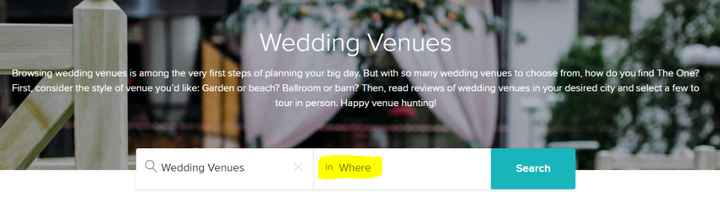 venue search box