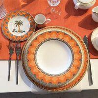 wedding registry place setting gift orange