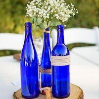 sapphire dark blue bottle centerpiece