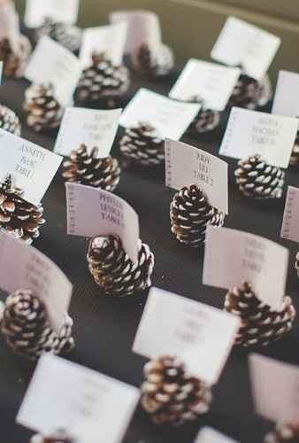 Escort Cards Winter Wedding