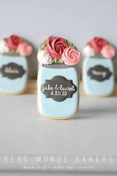 mason jar cookies wedding favor