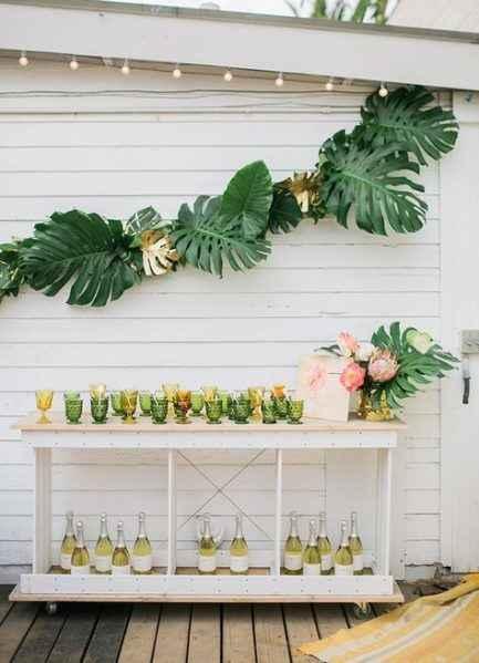Hawaiian/luau/tropical themed bridal shower - 6