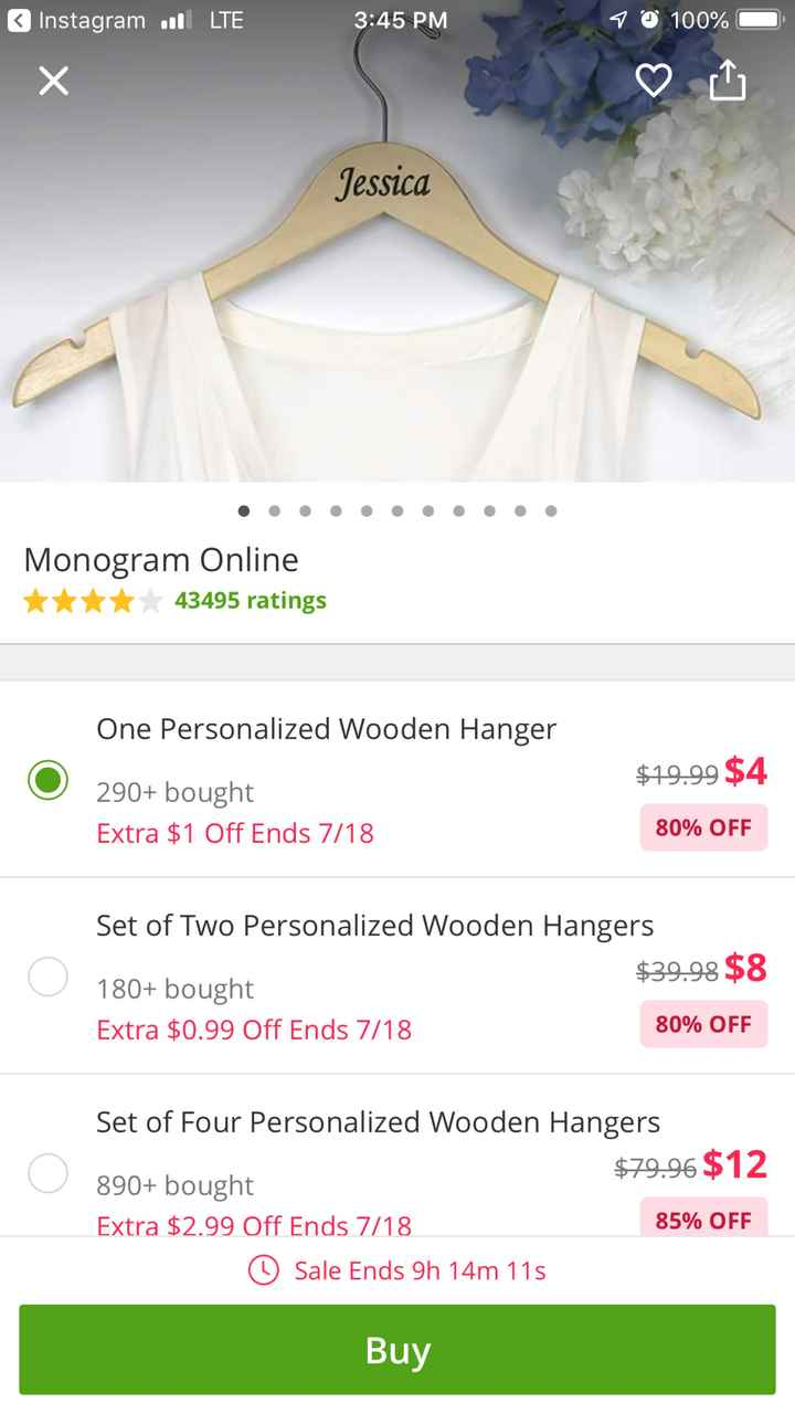 Groupon deal for personalized hangers! - 1