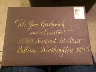 dear post office: are dark brown envelopes okay?