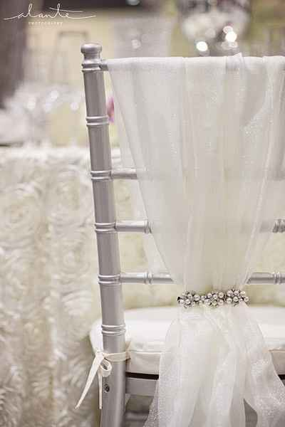 need ideas for decorations for my ceremony chairs