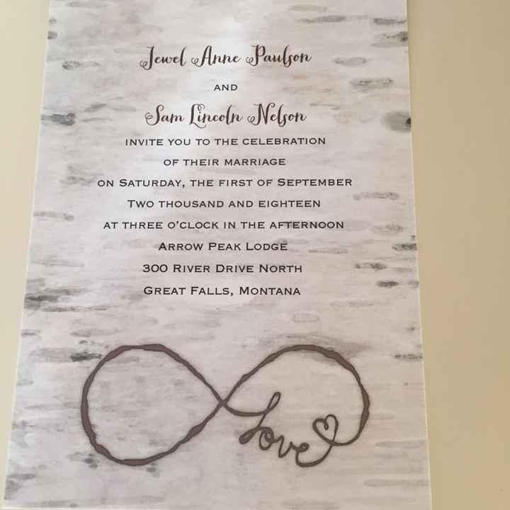 Ordered my invitations!