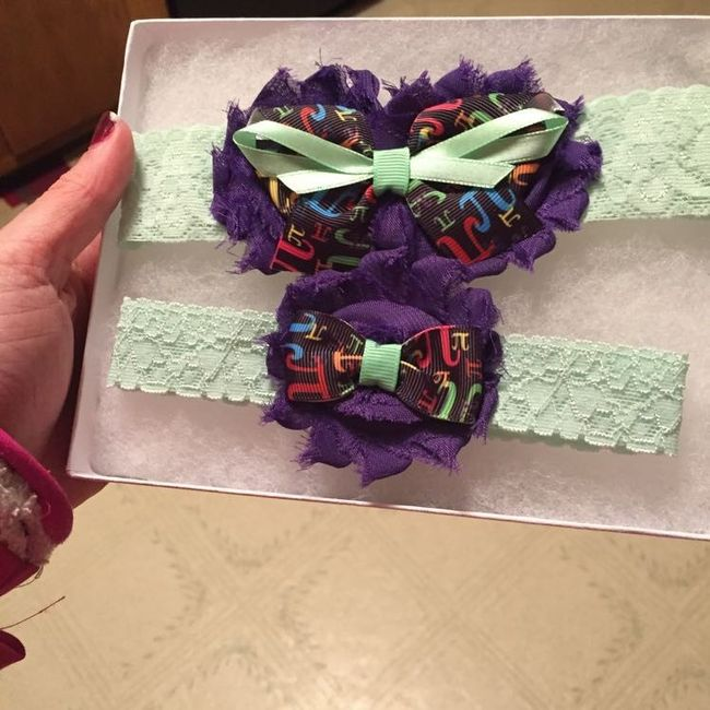 Are you wearing a garter? If you are, where did you get it?
