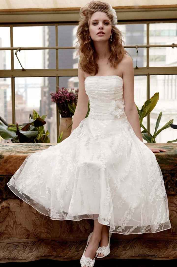 Tealength wedding dresses?  Opinions?