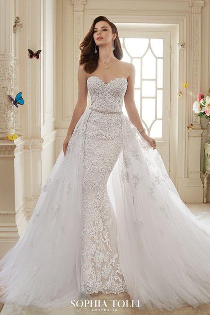 Wedding dress with bridal skirt 2