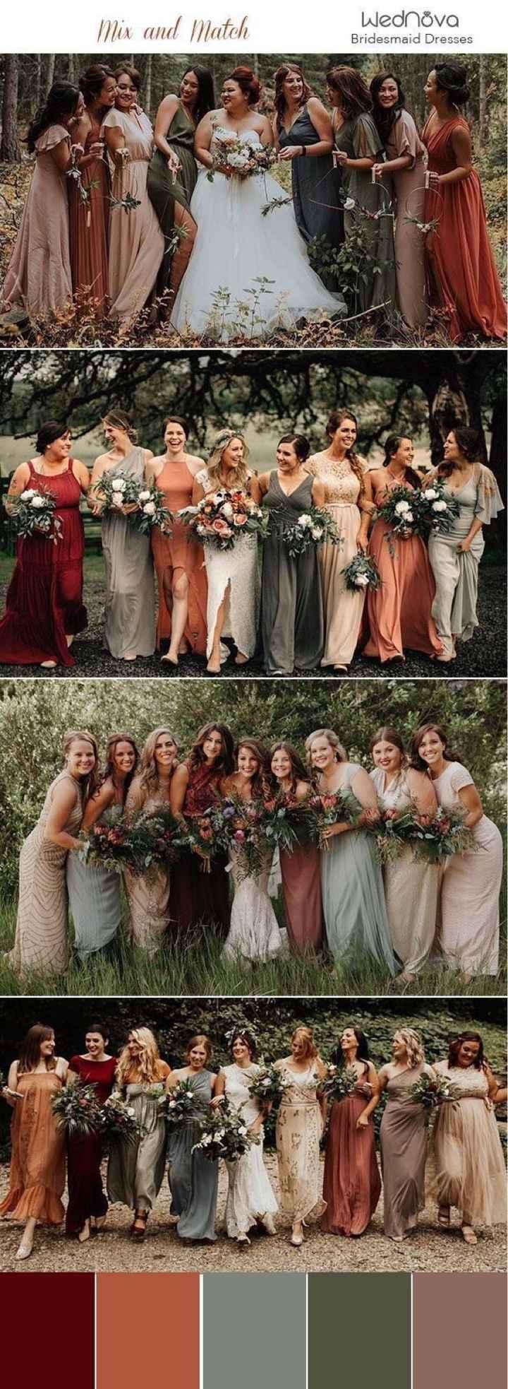 Mix and Match Bridesmaids - 2