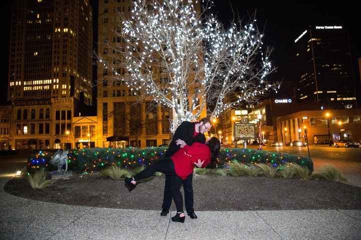 After proposal photo!