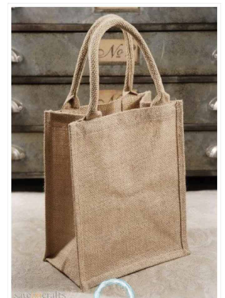 Jute/burlap Wedding Welcome Bags - 1