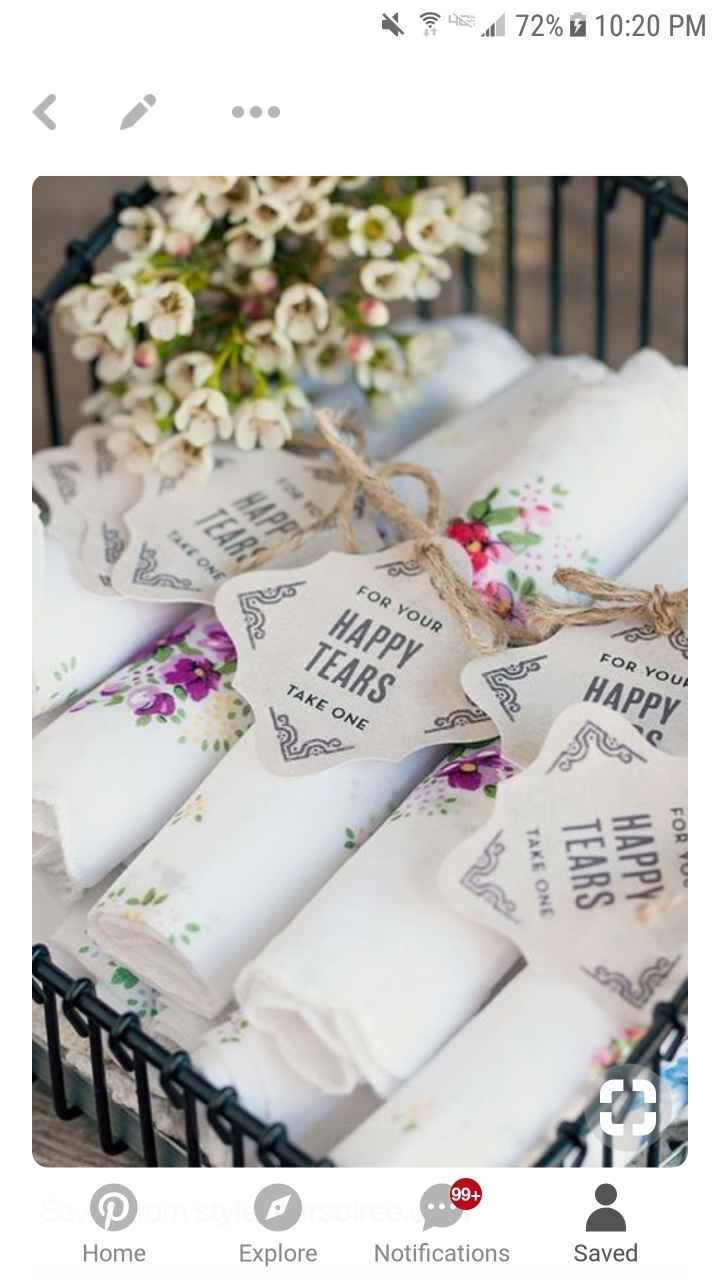 Floral Embroidered Handkerchiefs - 1