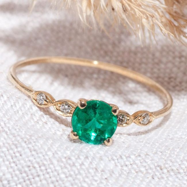 Engagement Rings with colored gemstones 2