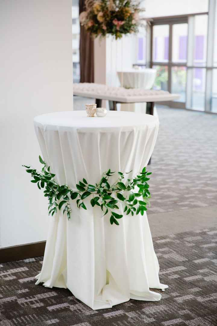 My cocktail tables will be white linens, like this, and loosefitted (not spandex) most similar to th