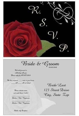 Sit Down Plated Dinner Rsvp Cards Can You Post Some Pics Of Yours Weddings Etiquette And