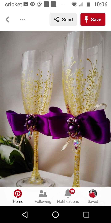 Wedding Cocktail Toasting Groom & Bride Flutes