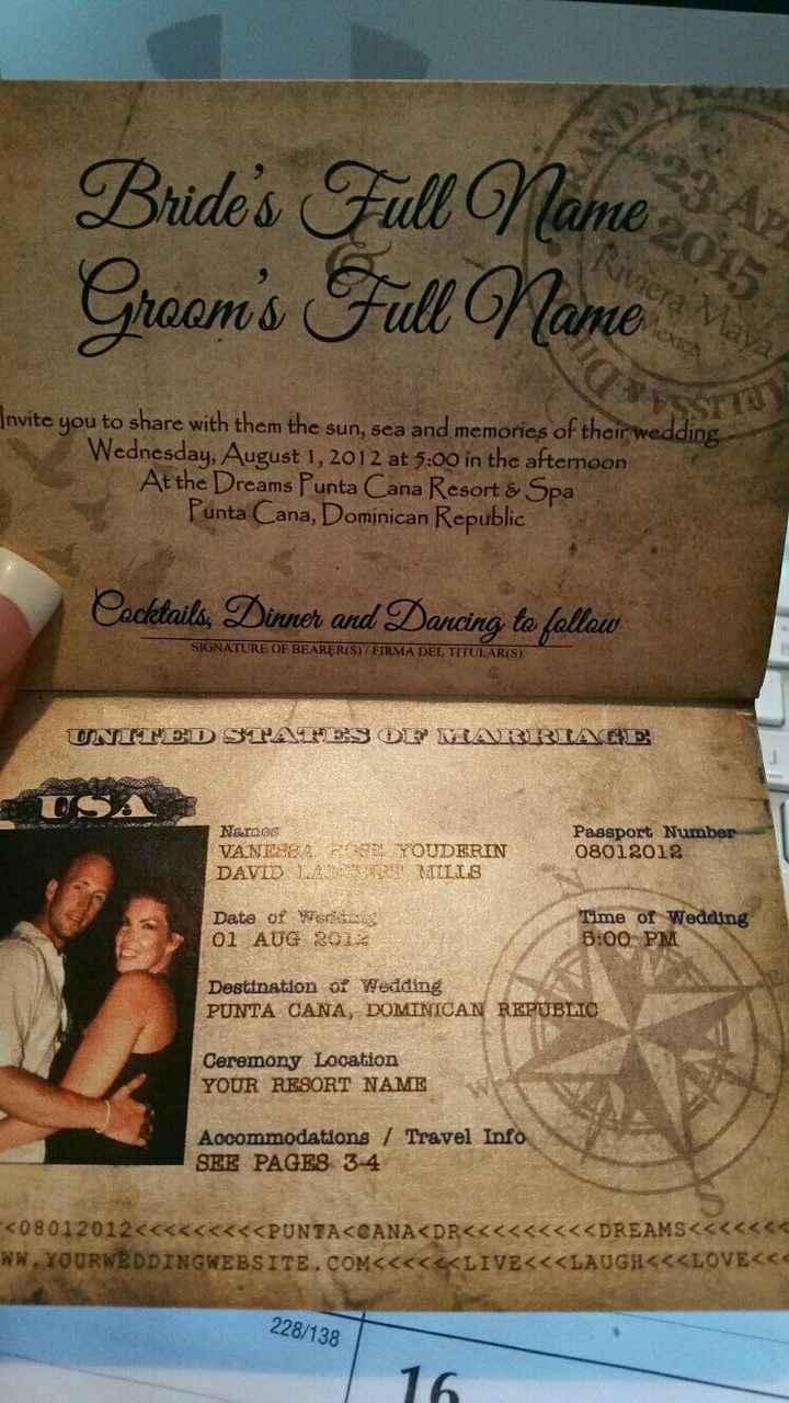 Destination Wedding Brides... awesome invitation idea!