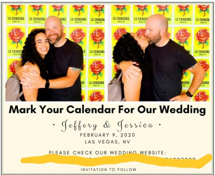 How many pictures did you use on your Save the Dates? 2