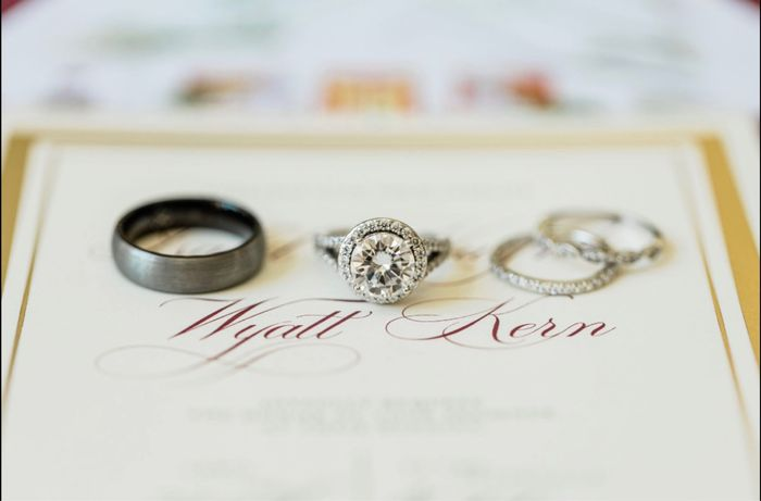 Brides and brides to be! i want to see your wedding bands or ideas for wedding bands! 9