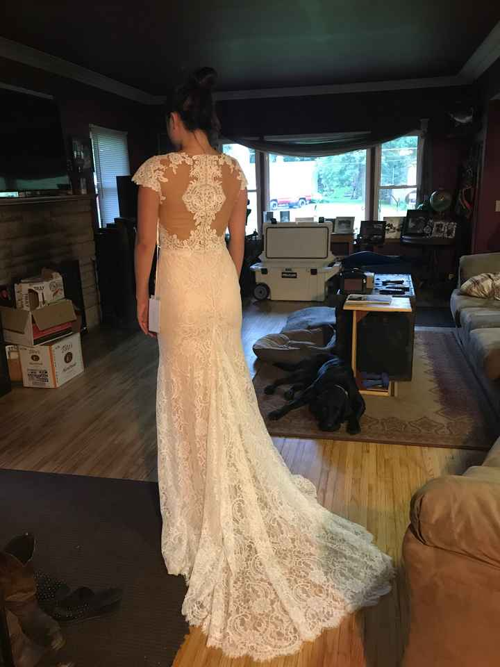 Can i see what your wedding dress looks on you as a size 8-10? - 2