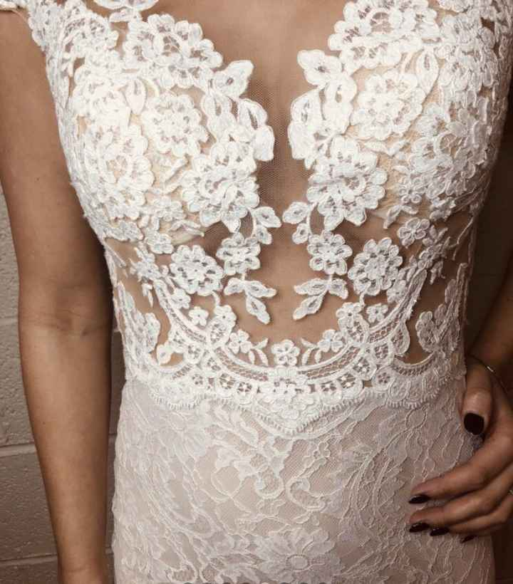 Can i see what your wedding dress looks on you as a size 8-10? - 3