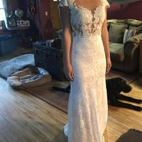 Can i see what your wedding dress looks on you as a size 8-10? - 1