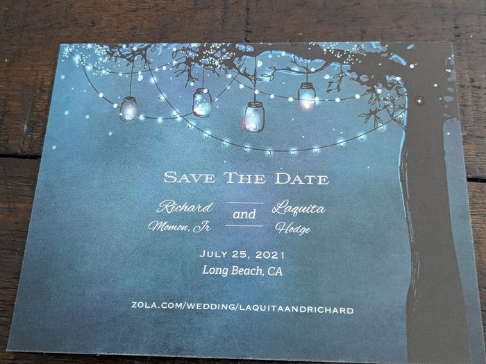 Replacement Save The Dates Came In - 1
