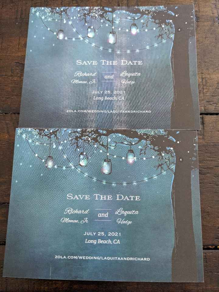 Replacement Save The Dates Came In - 2