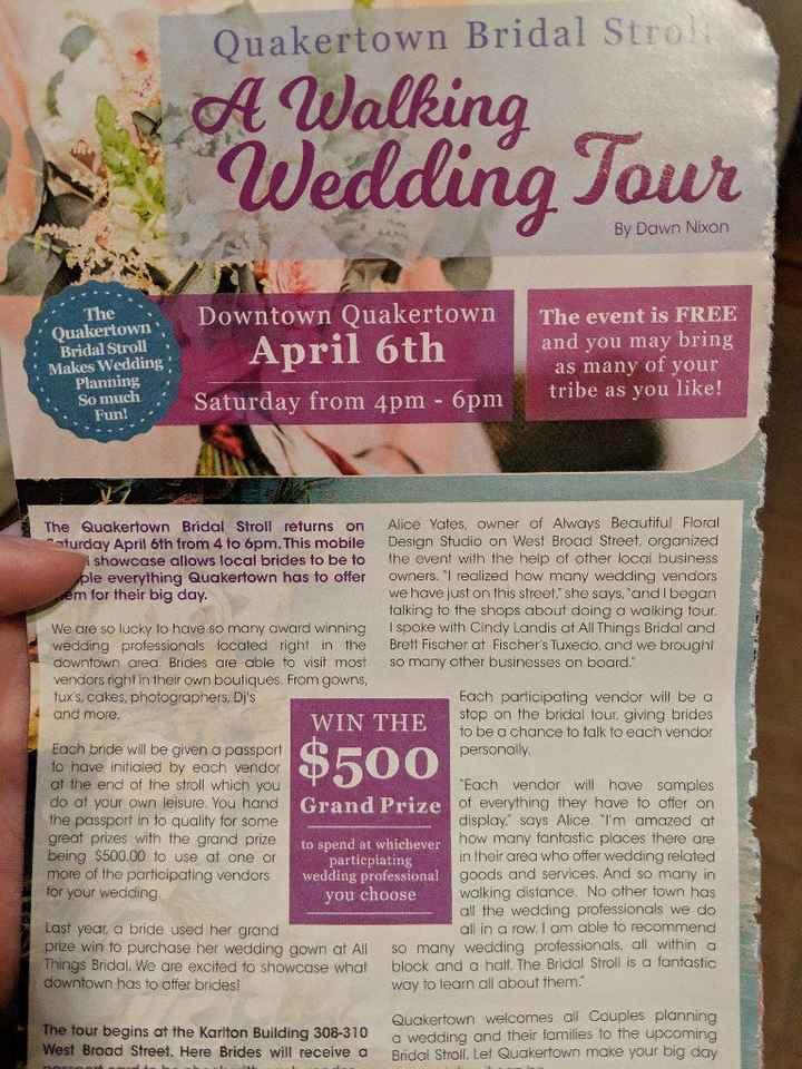 Quakertown, pa bridal stroll - 1