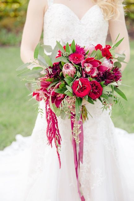 How much did you spend on flowers for your wedding? 9