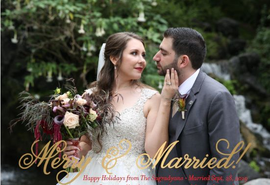 Married & Merry Christmas Cards! 3