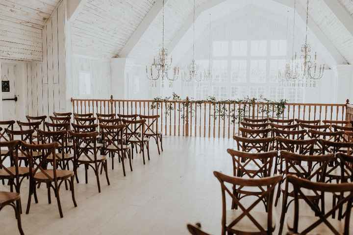 Our last-minute ceremony space