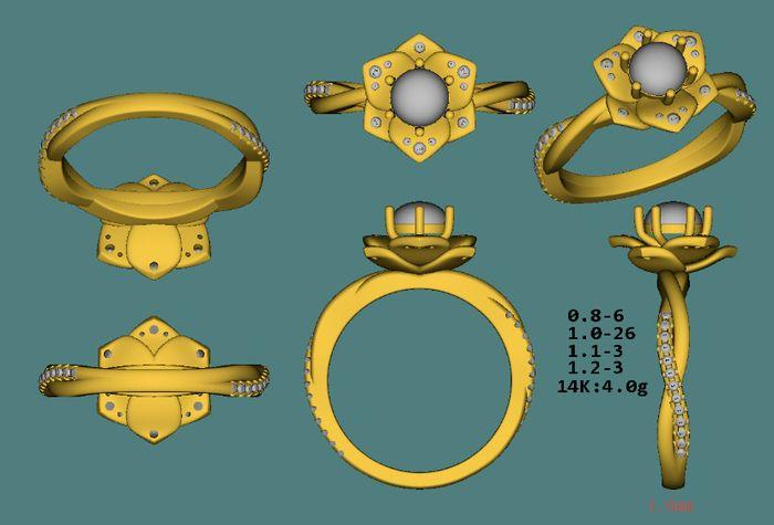 Custom Engagement Ring 1