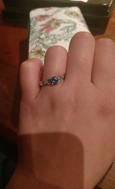 Who else has gemstones in their ring(s)?  Let's see them! 4