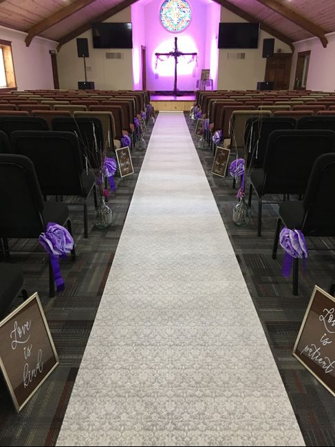Decorated our church today! 2
