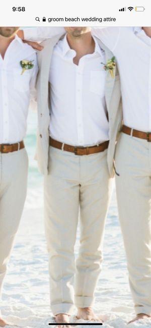 Groom attire for beach wedding 1