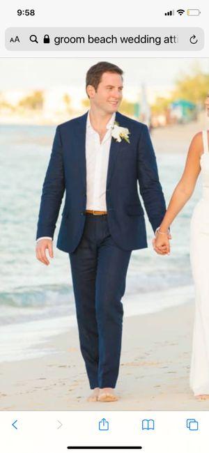 Groom attire for beach wedding 2