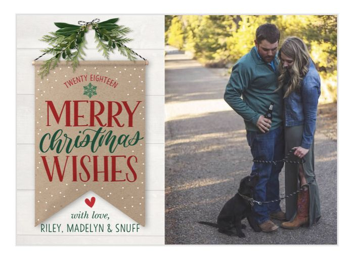 Are you sending holiday cards as a couple? 6