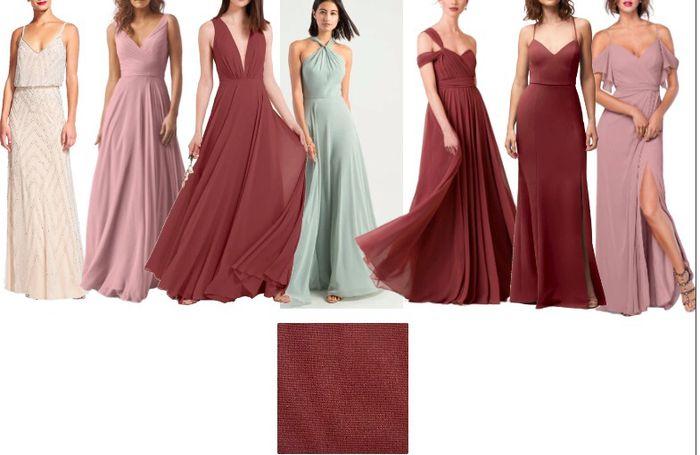 Short or Long Bridesmaids Dresses? - 1