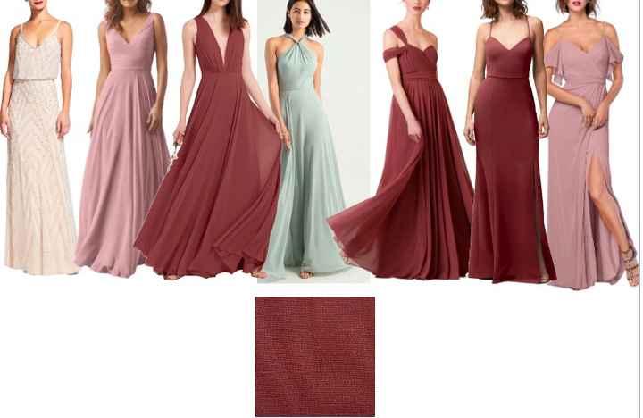 Mismatched bridesmaid dresses? - 1