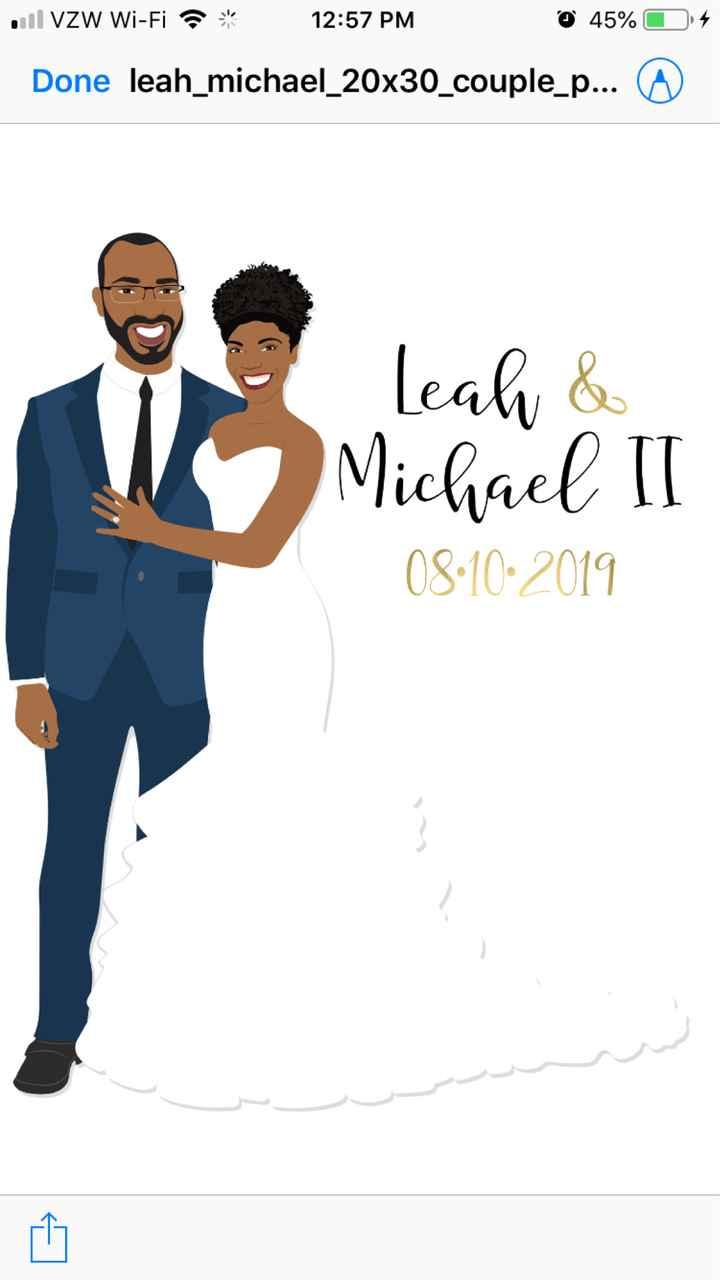 Couple custom illustration guestbook? - 1