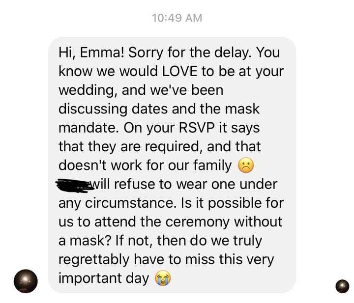 Wait what? Mask don't work for your family? - 1