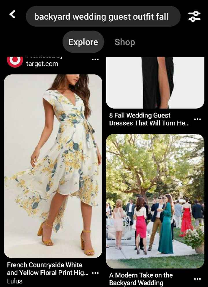 Outdoor wedding attire - 1