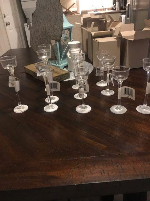 Stemmed Glass Tealight Holders 1