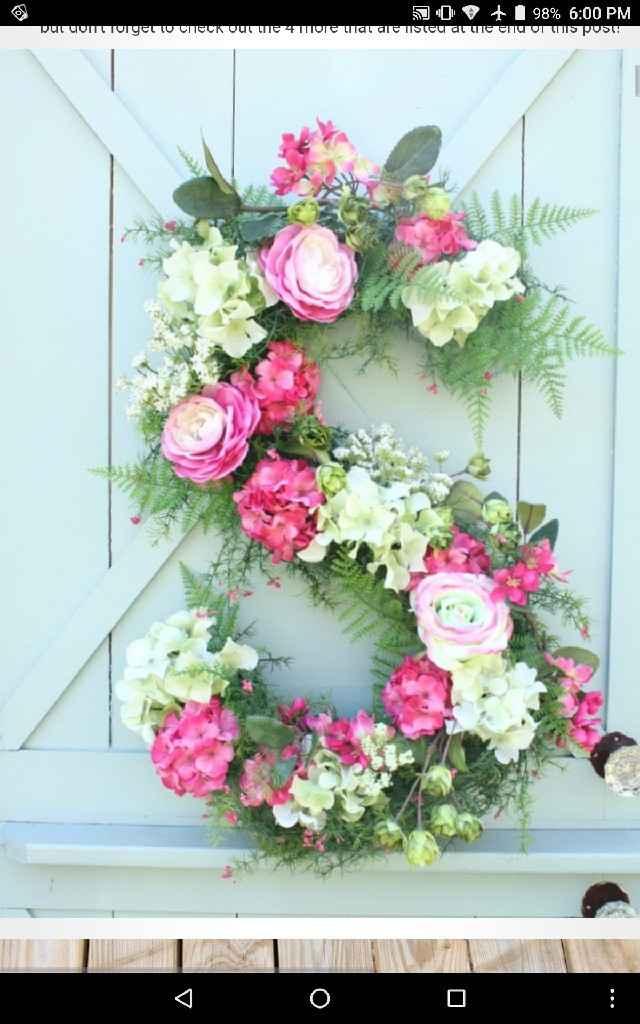 Large floral letters - 1